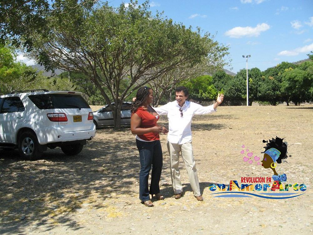 En la imagen: Mariaruth Mosquera con el compositor Gustavo Gutiérrez Cabello