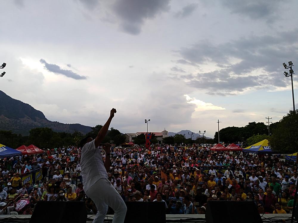 Imagen del concurso de canción inédita en Patillal. Foto Mariaruth Mosquera