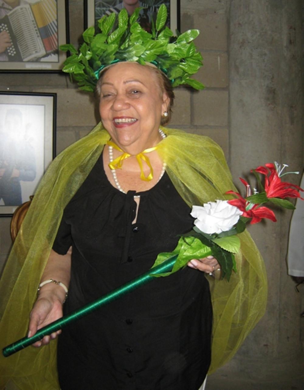 La Polla Monsalvo, reina de las tribus piloneras. Foto Juan Rincón Vanegas.