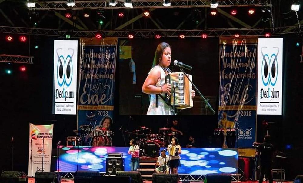 Imágenes del Encuentro Vallenato Femenino 2018. Foto Cortesía.