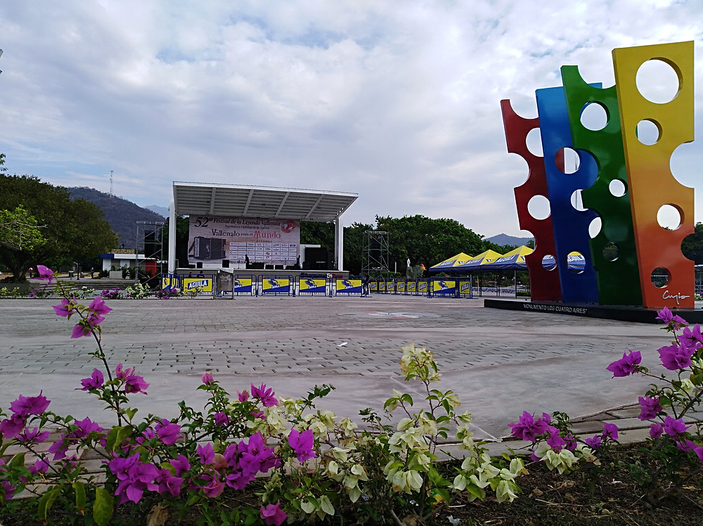 El concurso de canción vallenata inédita del pasado Festival de la Leyenda Vallenata se desarrolló en la plaza principal de Patillal. Foto Mariaruth Mosquera.