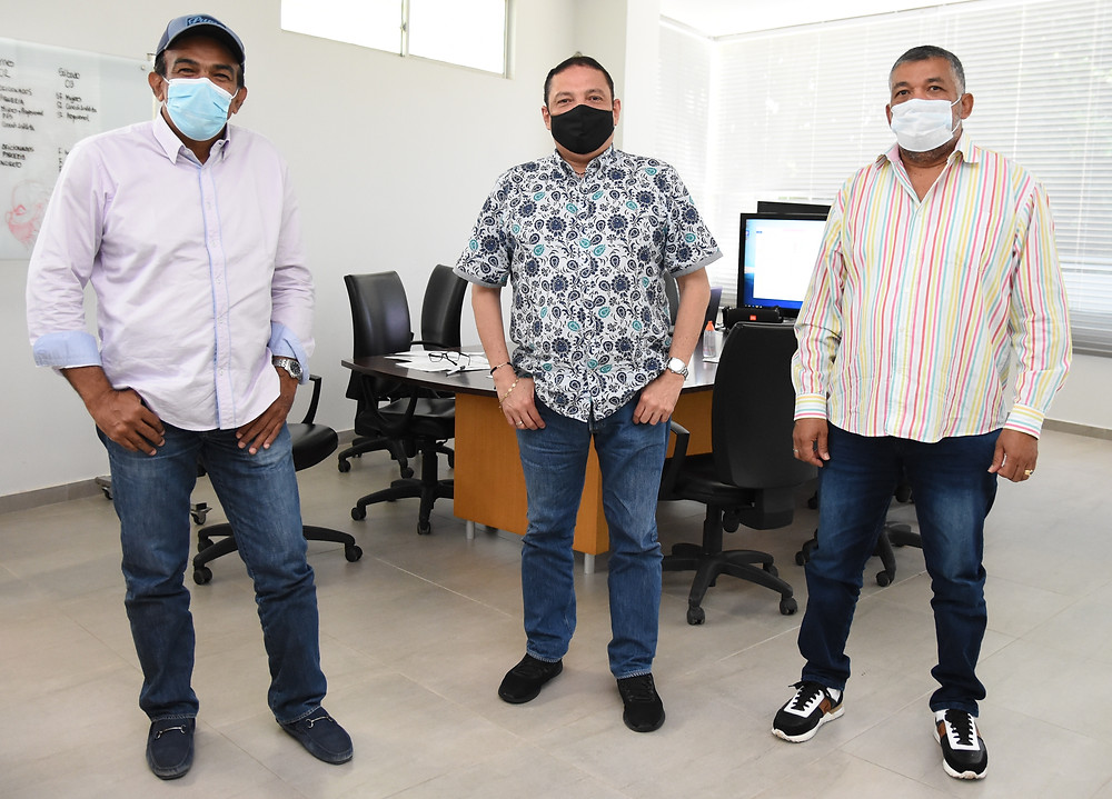 Jurado Acordeón Profesional y Aficionado Navín López, Gonzalo 'El Cocha' Molina e Ivo Luis Díaz. Foto Cortesía.