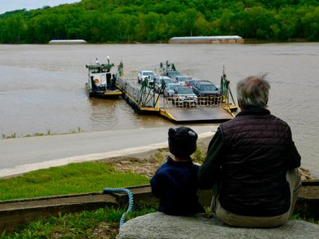 Crossing the Ohio River between Ohio and Kentucky