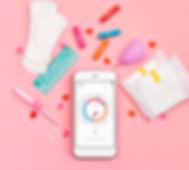 Phone with menstrual calendar. Sanitary