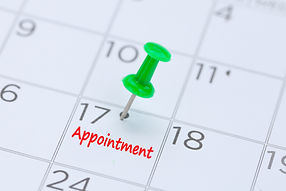 Appointment written on a calendar with a