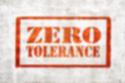 zero tolerance - red graffiti sign on a