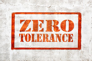 zero tolerance - red graffiti sign on a