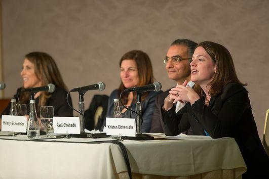 cyber-security panel, inher circle, Kristen Eichensehr, Fadi Chehad, Hilary Schneider