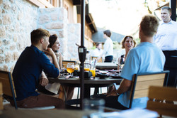 Enjoy outdoor dining on our patio