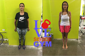 successful weight loss at siscoe gym with Sabrina