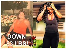 successful weight loss at siscoe gym with Anotinette