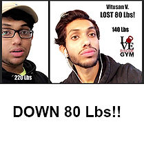 successful weight loss at siscoe gym with Vithusan