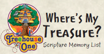 Scripture Memory List Where's my Treasur