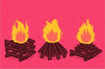 3 tipos de fogueira