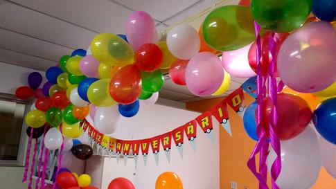 Festa de aniversário do mês