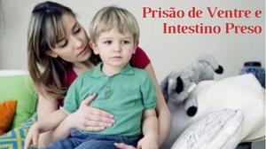 criança com intestino preso
