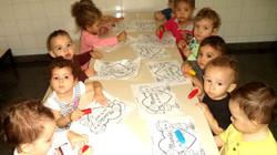Pintando com os amigos