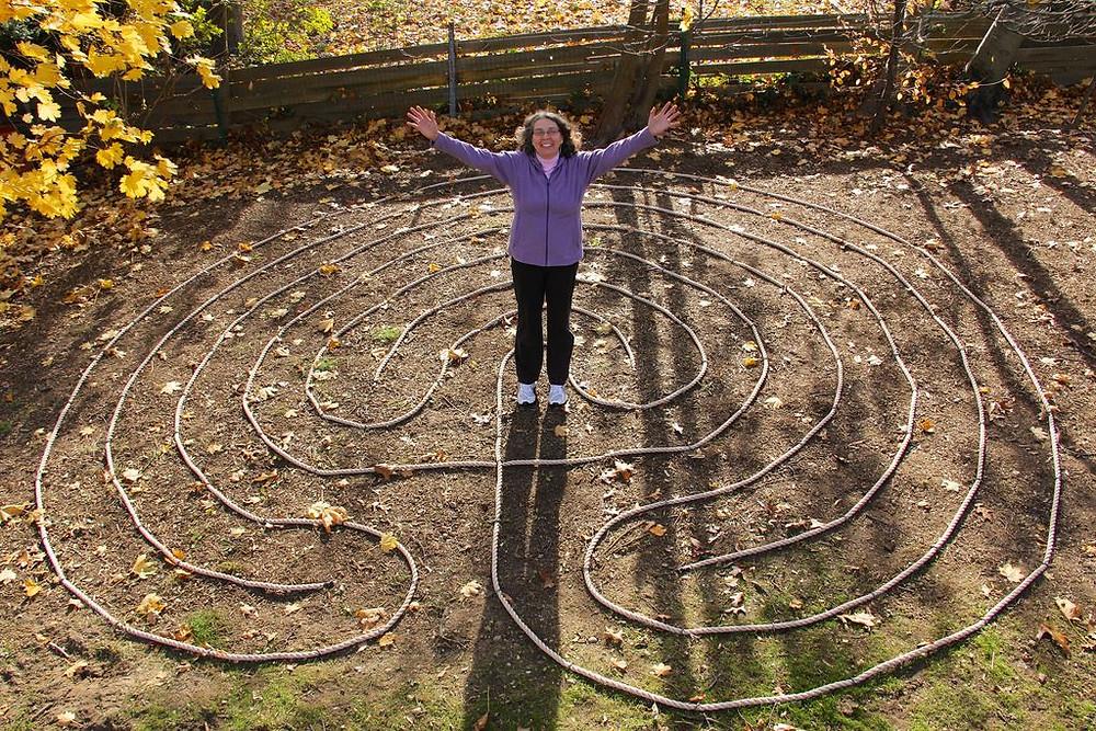 labirinto no quintal