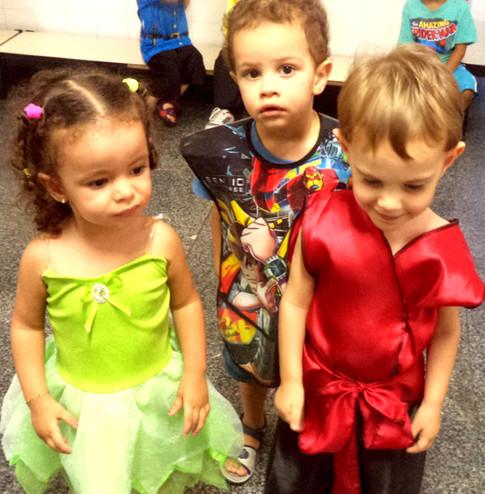 Três amigos no carnaval
