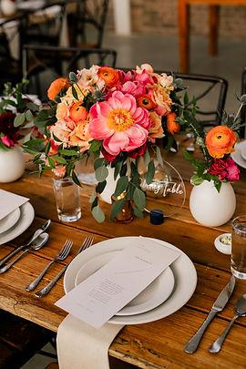 Summer Wedding Head Table