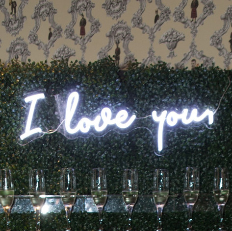 "Neon ""I Love you"" Sign"