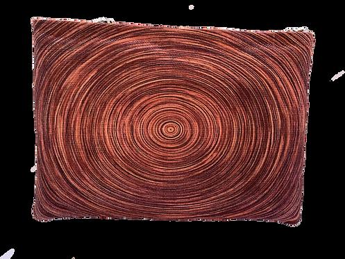 Red Brick Circle Clutch