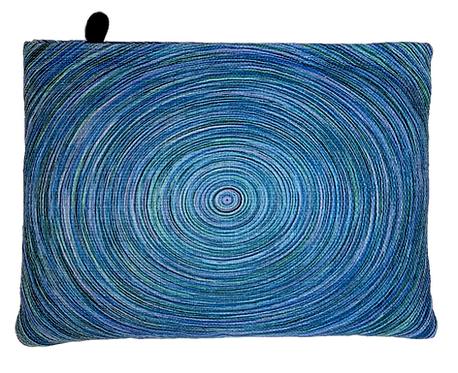 Blue Circle Clutch