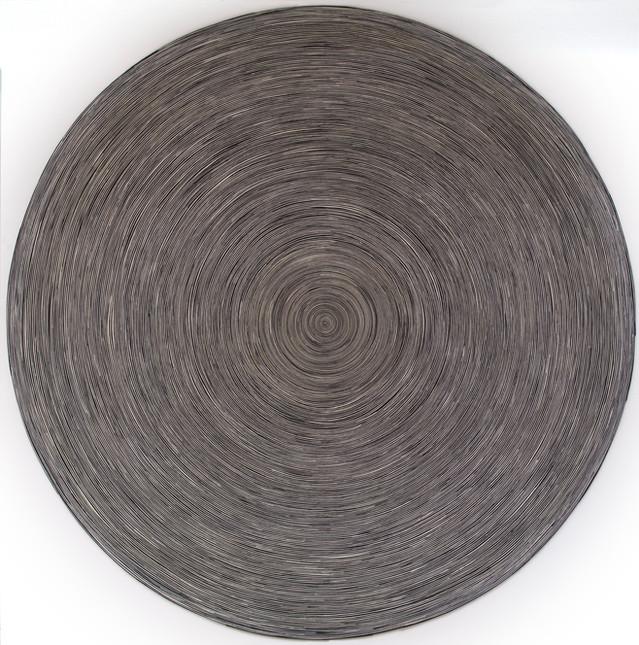 B&W Circle on white canvas