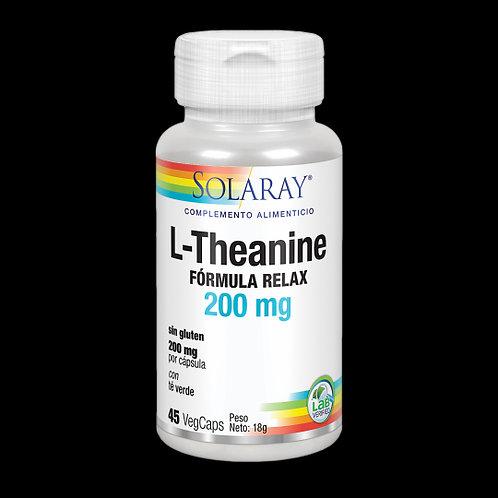 L-Theanine 200 Mg- 45 VegCaps. Sin Gluten. Apto Para Veganos