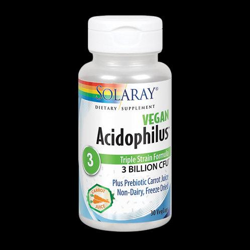 Probiótico Acidophilus Plus - 30 VegCaps. Sin Leche. Apto Para Veganos