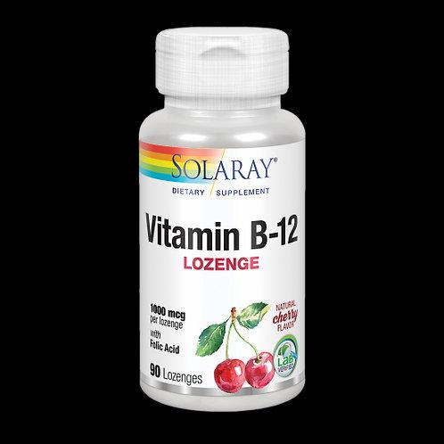 Vitamin B12 Con Ácido Fólico 1000 Mcg- 90 Comprimidos Sublinguales. Sin Gluten.