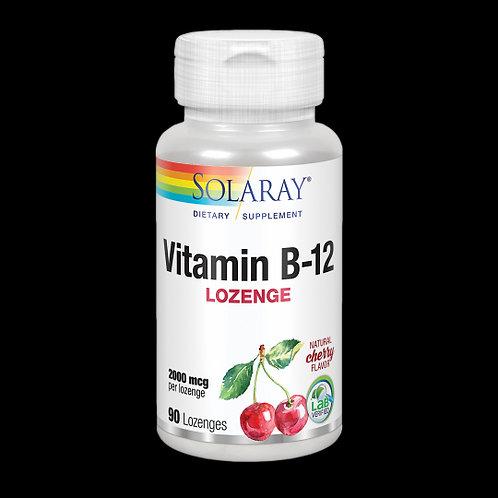 Vitamin B-12 2000 Mcg - 90 Comprimidos Sublinguales. Sin Gluten. Apto Para Vegan