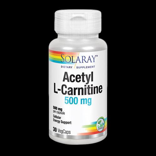Acetyl-L-Carnitine 500 Mg- 30 Vegcaps. Apto Para Veganos