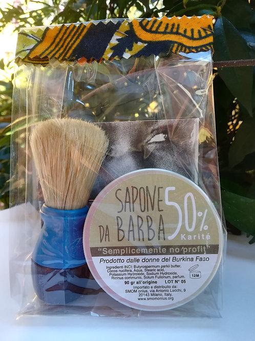 Sapone da barba con pennello