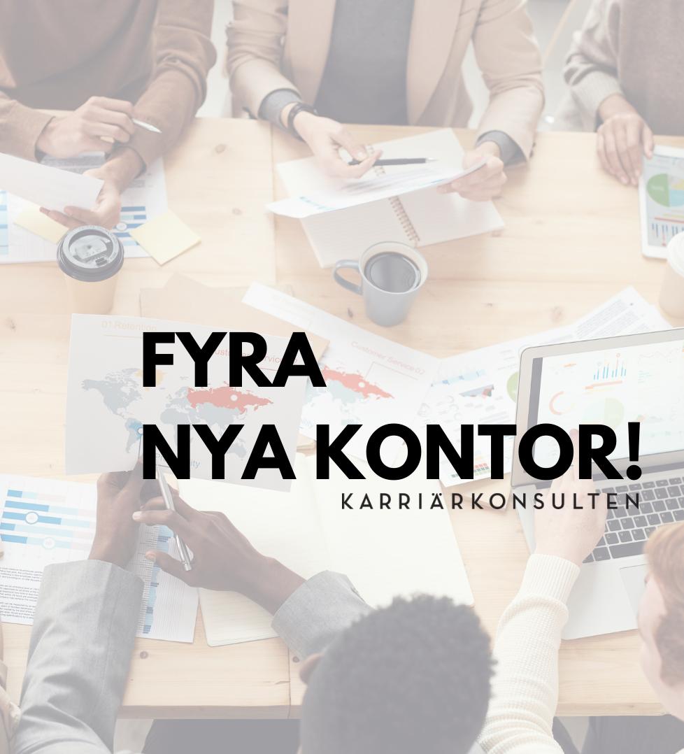 Karriärkonsulten öppnar fyra nya kontor för att effektivt kunna rusta och matcha våra deltagare ut i sysselsättning.