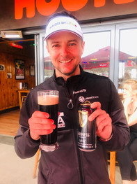 Morne Basson celebrating with a Guinness