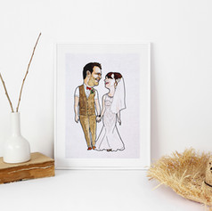 Couple Wedding Anniversary Illustration