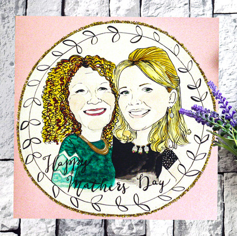 Happy Mother's Day Portrait Card