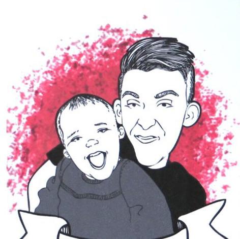 Digital Illustration_Dad & Daughter