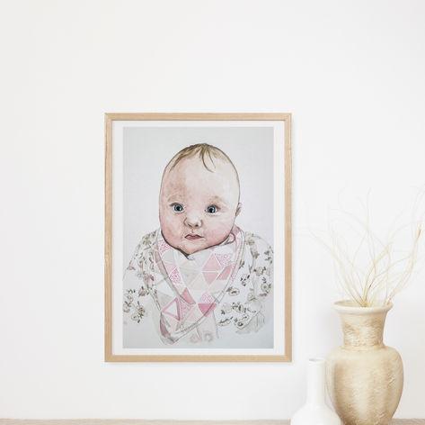 Baby Watercolour Portrait