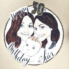 Happy 30th Birthday Family Card