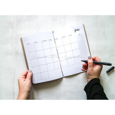 2021 Monthly planner | Diary with monthly view | Monthly diary