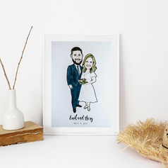 Wedding Illustration Portrait