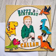 Boy Birthday Card - Dinosaur