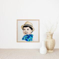 Toddler Watercolour Portrait