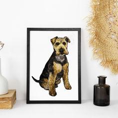 Dog Watercolour Portrait