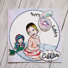 Girl Birthday Card - Mermaid
