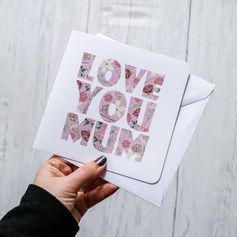 Love You Mum Card (White background)