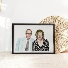 Couple Watercolour Portrait