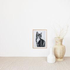 Cat Portrait Watercolour
